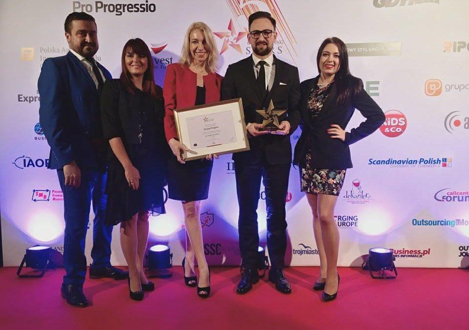 Grupa Progres z nagrodą Outsourcing Stars