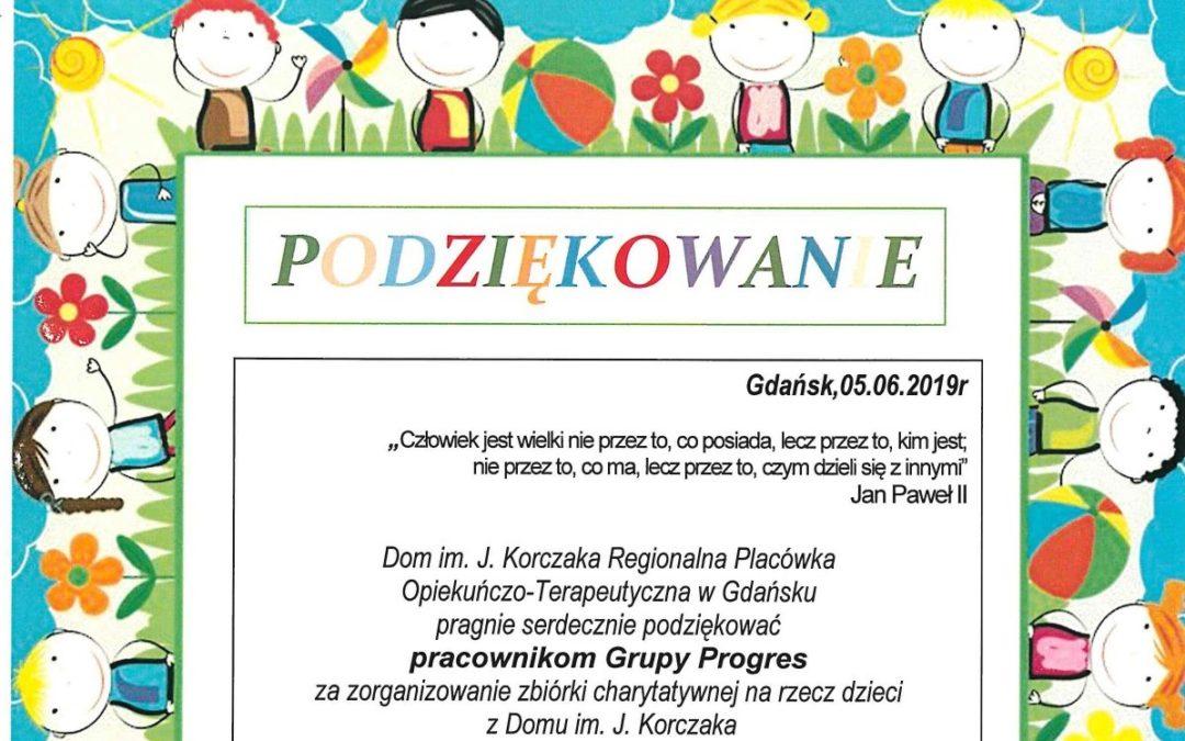 Podziękowania od dzieci z Domu im. J. Korczaka